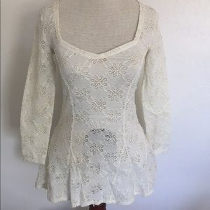 Free People Tops - Free People Daisy Lace Godet Top